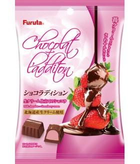 """Конфеты шоколадные """"Chocolat Addition"""" с клубничной начинкой, 50г"""