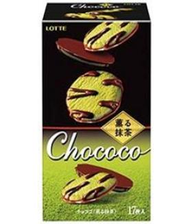 """Печенье с чаем Мачча и шоколадной глазурью  """"CHOCOCO"""" (17 шт.), 98.6 г"""