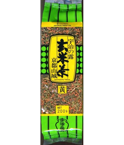 Геммай-ча Yellow, листовой с жареными рисовыми зёрнами 200 г