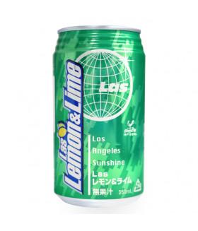 """Напиток газированный со вкусом лимона и лайма """"Las Lemon&Lime"""", 350 мл Tominaga"""