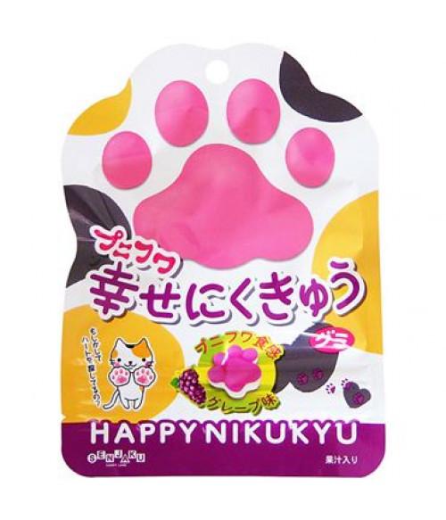 Конфеты жевательные в форме кошачьих лапок со вкусом винограда, 30г