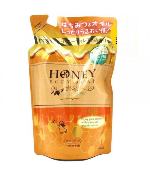 FUNS Honey Oil Гель для душа с экстрактом меда и маслом жожоба (сменный блок), 400мл