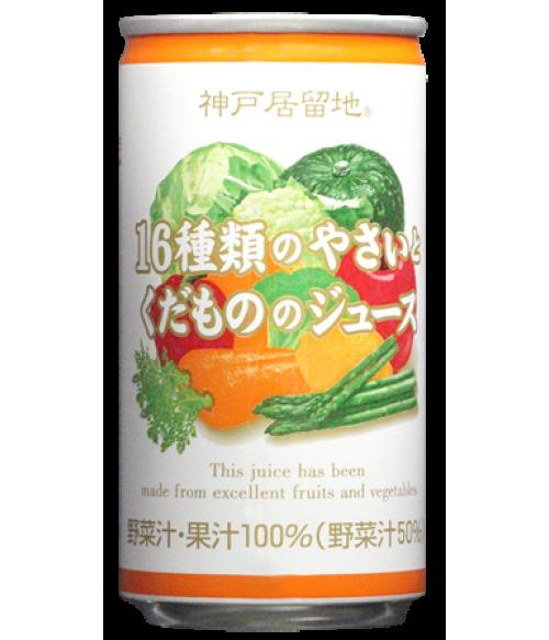 Сок фруктово-овощной натуральный, ж/банка, 185гр