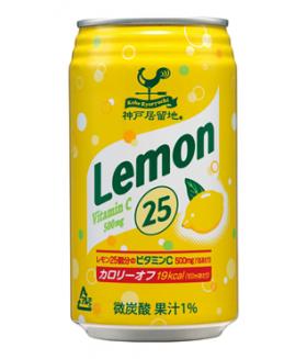 """Напиток газированный с лимонным соком """"25 лимонов"""", 350мл Tominaga"""
