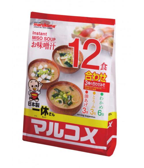 """Суп-мисо """"Иккю"""" быстрого приготовления, 12 пакетов, 222г MARUKOME"""