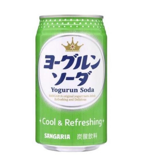 """Напиток газированный """"Крем сода, Yogurun Soda""""со вкусом йогурта, 350г SANGARIA"""