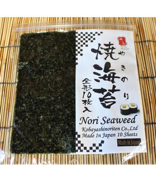 Сушеные водоросли Нори (10 листов, 30г) C Kobayashi