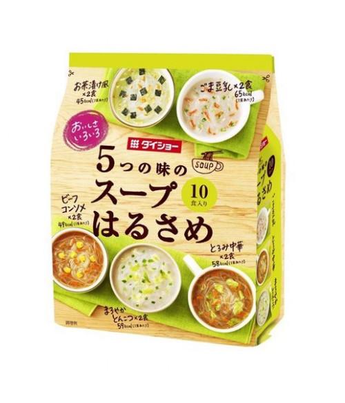 Суп с лапшой Харусаме, 5 вкусов (Кунжутный с соевым молоком, ЧУКА, MILD Тонкоцу, Консоме,Очадзуке с лососем) 10 порций, 159.4г